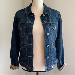Chico jean jacket with animal print